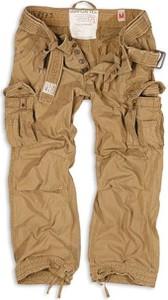 Brązowe spodnie Surplus z tkaniny