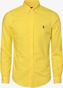 Żółta koszula POLO RALPH LAUREN z bawełny z długim rękawem