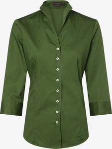 Zielona koszula Franco Callegari z długim rękawem ze stójką