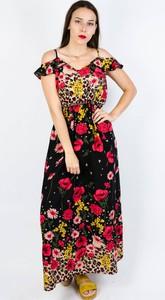 Sukienka Olika maxi z krótkim rękawem