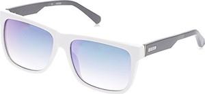 GUESS kwadratowe okulary przeciwsłoneczne w kolorze czarnym z połyskiem gu6838 01 °C 57 - 57