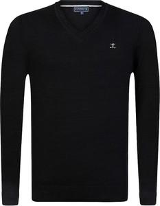 Czarny sweter Sir Raymond Tailor z bawełny