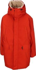 Czerwona kurtka Napa By Martine Rose w stylu casual długa
