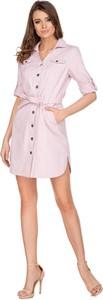 Sukienka Ptakmoda.com szmizjerka z długim rękawem