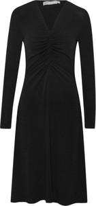 Czarna sukienka InWear z długim rękawem