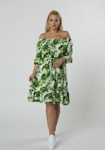 Sukienka Ptakmoda.com z długim rękawem midi hiszpanka