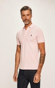 Różowy t-shirt POLO RALPH LAUREN z bawełny z krótkim rękawem