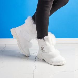 Buty dziecięce zimowe Royalfashion.pl z klamrami