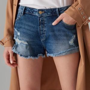 Granatowe szorty Mohito w street stylu z jeansu
