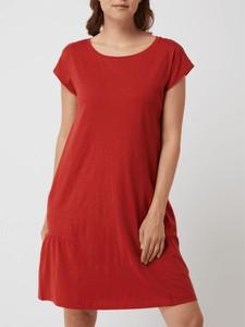 Sukienka Esprit z krótkim rękawem z bawełny