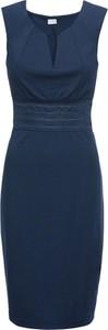 Niebieska sukienka bonprix BODYFLIRT boutique bez rękawów ołówkowa