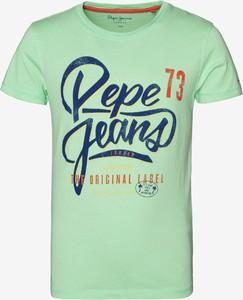 Zielona koszulka dziecięca Pepe Jeans dla chłopców