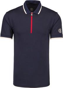 Granatowa koszulka polo Bogner z krótkim rękawem