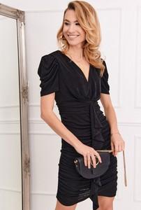 Czarna sukienka Fasardi z tkaniny