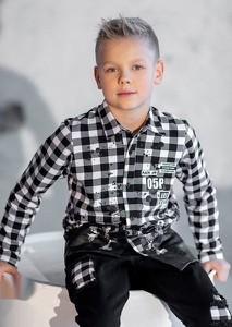 Koszula dziecięca All For Kids z bawełny w krateczkę