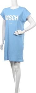 Niebieska sukienka Msch w stylu casual z okrągłym dekoltem mini