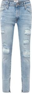 Niebieskie jeansy Jack & Jones w street stylu z jeansu