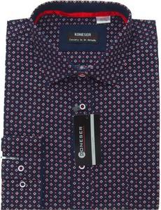 Fioletowa koszula Koneser z długim rękawem