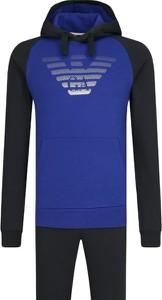 Niebieski dres Emporio Armani z nadrukiem