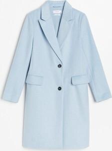 Niebieski płaszcz Reserved z wełny