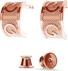 SREBRNE KOLCZYKI GIORRE BRAND 925 : Kolor pokrycia srebra - Pokrycie Różowym 18K Złotem