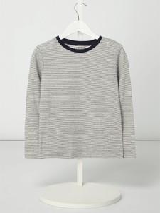 Koszulka dziecięca Review For Kids z długim rękawem z bawełny w paseczki