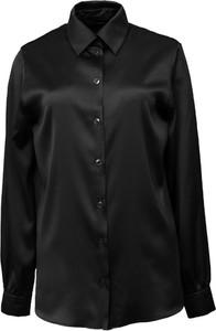 Czarna koszula So Fluffy z jedwabiu
