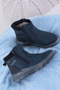 Niebieskie buty dziecięce zimowe Casu