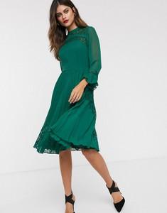 Zielona sukienka Asos Design z okrągłym dekoltem
