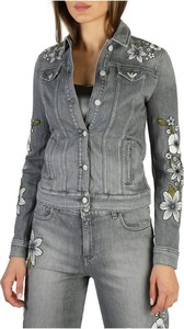 Kurtka Emporio Armani krótka z jeansu