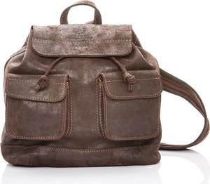Brązowy plecak Paolo Peruzzi ze skóry