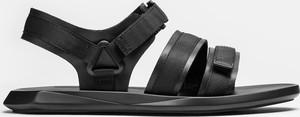 Czarne buty letnie męskie Kazar na rzepy