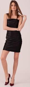 Czarna sukienka Sheandher.pl gorsetowa z okrągłym dekoltem