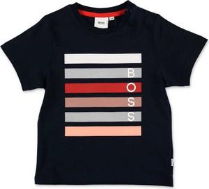 Koszulka dziecięca Hugo Boss z bawełny z krótkim rękawem