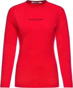 Bluzka Calvin Klein w stylu casual z okrągłym dekoltem