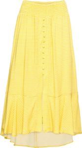 Żółta spódnica bonprix BODYFLIRT w stylu casual