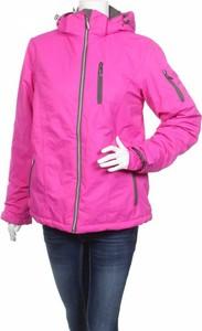 Różowa kurtka Janina w stylu casual krótka