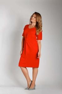 Sukienka Nommo midi z bawełny z dekoltem w kształcie litery v