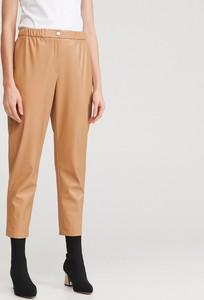 Brązowe spodnie Reserved ze skóry