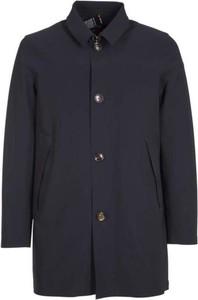 Niebieska kurtka Rrd długa w stylu casual