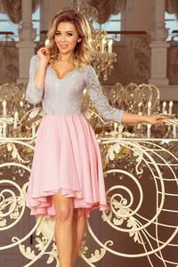 Sukienka Pawelczyk24.pl asymetryczna z dekoltem w kształcie litery v