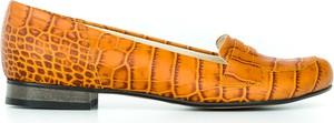 Pomarańczowe baleriny Zapato w stylu vintage