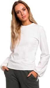 Bluzka Merg z okrągłym dekoltem z długim rękawem