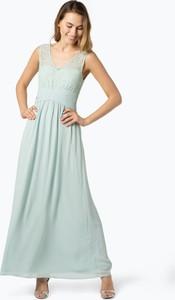 Zielona sukienka Vila z szyfonu maxi
