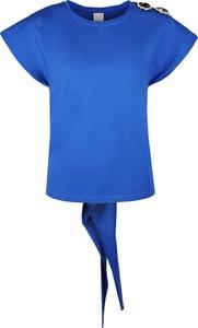 """Bluzka Pinko Bluzka """"intervallare"""" w stylu casual z tkaniny z okrągłym dekoltem"""