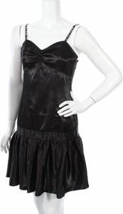 Czarna sukienka Sash na ramiączkach mini z dekoltem w kształcie litery v