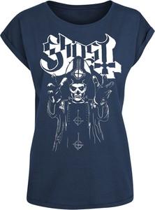 Granatowy t-shirt Emp