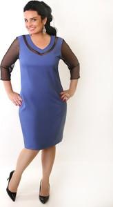 Niebieska sukienka Oscar Fashion