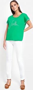 Zielona bluzka Molton z krótkim rękawem z bawełny