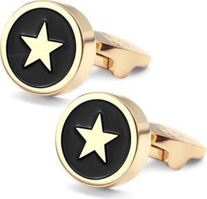 YES Compass - srebrne spinki do mankietów